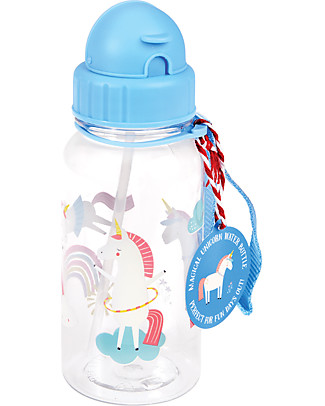 Rex London Borraccia 500 ml, Magico Unicorno - Senza BPA! null