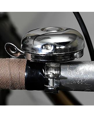 Rex London Campanello da Bici Classico, Argento Biciclette