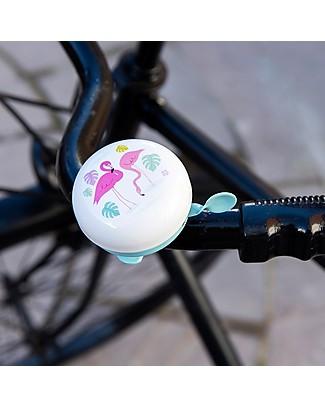 Rex London Campanello da Bici Fenicottero, Metallo Biciclette