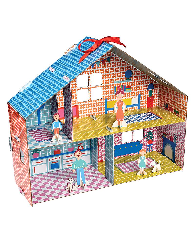 Rex london casa delle bambole in cartone fai da te include 6 personaggi bambina - Casa di cartone ...