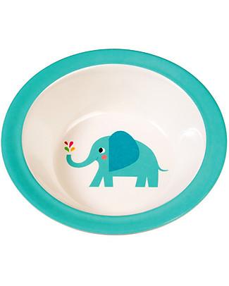 Rex London Ciotola Bimbi in Melamina, Elvis the Elephant - Senza BPA, PVC, ftalati e piombo! Piatti e Scodelle