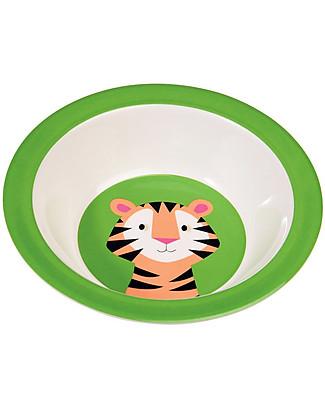 Rex London Ciotola Bimbi in Melamina, Tiger - Senza BPA, PVC, ftalati e piombo! Portauova e Misurini
