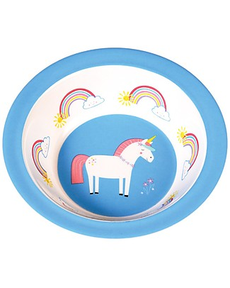 Rex London Ciotola Bimbi in Melamina, Unicorno - Senza BPA, PVC, ftalati e piombo! Piatti e Scodelle
