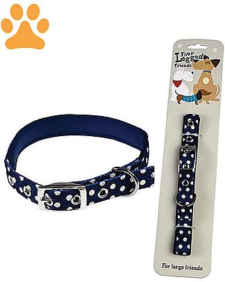 Rex London Collare per Cani a Pois - Large Accessori Animali