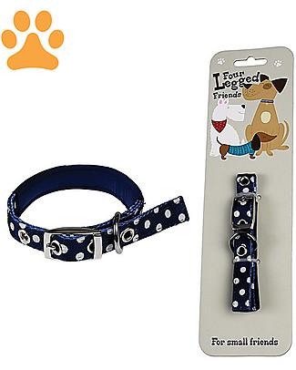 Rex London Collare per Cani a Pois - Small Accessori Animali