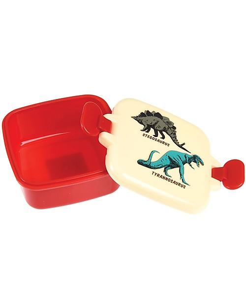 Rex London Contenitore Porta Merenda, Dinosauri  9x7x3.9 cm - Privo di BPA! Contenitori Latte e Snack