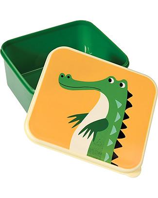Rex London Contenitore Porta Pranzo, Crocodile - Senza BPA! Contenitori in Metallo