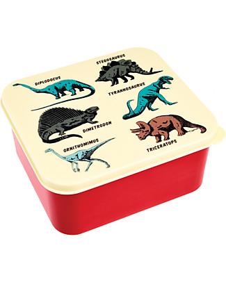 Rex London Contenitore Porta Pranzo, Dinosauri 13,5x15x7 cm - Divertente e Privo di BPA!  Contenitori Latte e Snack