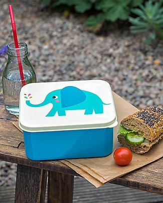 Rex London Contenitore Porta Pranzo, Elvis the Elephant - Senza BPA! Contenitori in Metallo