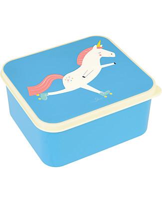 Rex London Contenitore Porta Pranzo, Magico Unicorno 13,5x15x7 cm - Senza BPA! Contenitori Latte e Snack