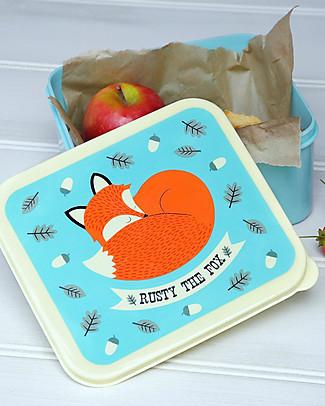 Rex London Contenitore Porta Pranzo, Rusty the Fox - Senza BPA! Contenitori in Metallo