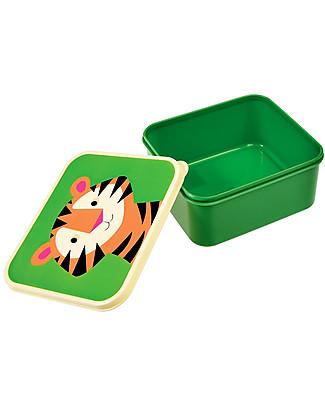 Rex London Contenitore Porta Pranzo, Tiger - Senza BPA! Contenitori in Metallo
