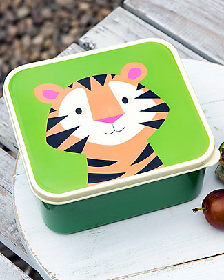 Rex London Contenitore Porta Pranzo, Tiger - Senza BPA! Contenitori Latte e Snack