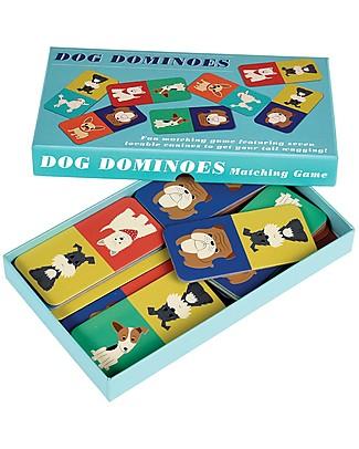 Rex London Domino degli Amici a 4 Zampe, Contiene 28 Tessere di Cani - Ottima idea regalo! Giochi Di Una Volta