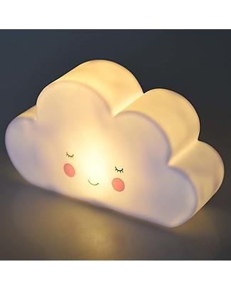 Rex London Luce Notturna, Nuvoletta - Batterie Incluse! Lampade Da Notte