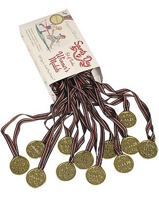 Rex London Medaglie Premio, Set di 12 - Ottime per gare e giochi all'aperto! Giochi all'Aperto