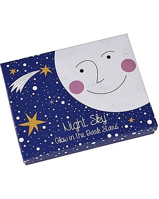 Rex London Night sky, Set di 30 Stelle che si Illuminano al Buio, Dimensioni Assortite Adesivi Da Parete