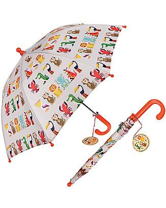 Rex London Ombrello per Bambini, Creature Colorate Ombrelli e Calosce