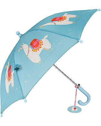 Rex London Ombrello per Bambini, Dolly Lama - Sicuro e Resistente! Ombrelli e Calosce