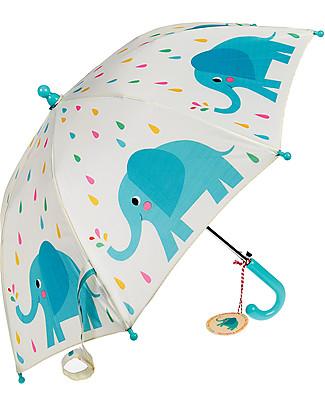 Rex London Ombrello per Bambini, Elvis l'Elefante Ombrelli e Calosce