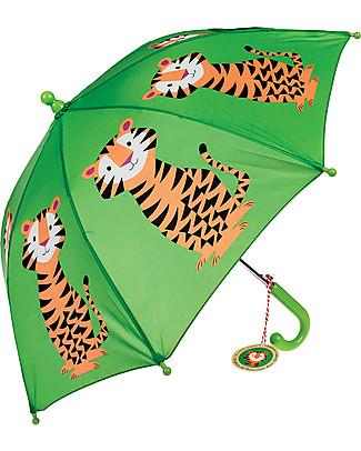 Rex London Ombrello per Bambini, Tigre Ombrelli e Calosce