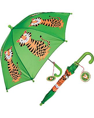 Rex London Ombrello per Bambini, Tigre Ombrelli