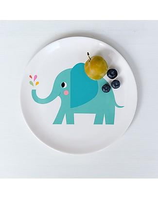 Rex London Piatto Bimbi, Elvis l'Elefante - Senza BPA, PVC, ftalati e piombo! Piatti e Scodelle