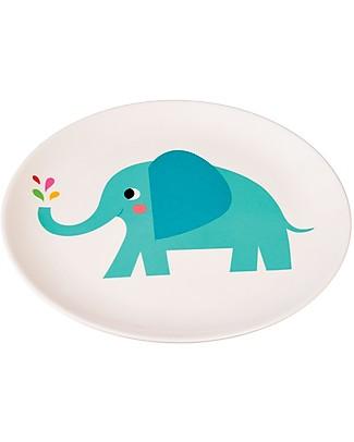 Rex London Piatto Bimbi in Melamina, Elvis l'Elefante - Senza BPA, PVC, ftalati e piombo! Piatti e Scodelle