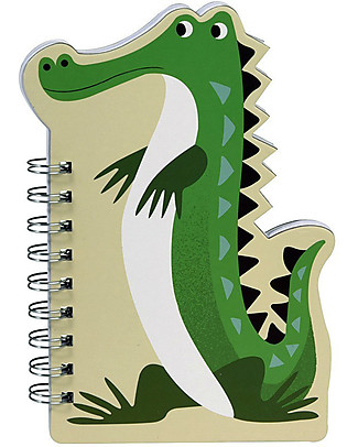 Rex London Quaderno a Spirale con Pagine Bianche, Crocodile - Ottima idea regalo! Colorare
