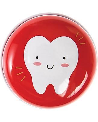 Rex London Scatola Porta Primo Dentino, Rosso Regalini