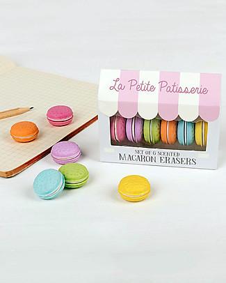 Rex London Set di 6 Gomme Profumate Macaron - Ottima idea regalo per la scuola! Kit Fai Da Te