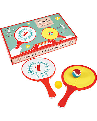 Rex London Set Gioco 2 in 1 Tennis e Catch Ball - Ispirazione retrò per un dinamico divertimento! Giochi Di Una Volta