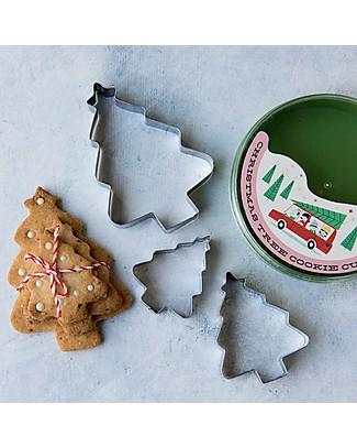 Rex London Set Natale Stampini per Biscotti Alberi di Natale + Scatola  Decorazioni Natalizie