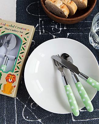 Rex London Set Posate Bimbi Colourful Creatures - Forchetta, cucchiaio e coltello Posate e Bacchette
