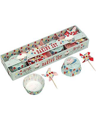 Rex London Set Stampini da Cupcake e Decorazioni Torta, Carnevale Decorazioni per Torte