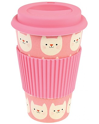 Rex London Tazza da Viaggio in Bambù 400 ml, Cookie il Gattino - Originale ed Eco-Friendly Tazze e Bicchieri