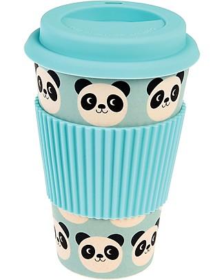 Rex London Tazza da Viaggio in Bambù 400 ml, Miko il Panda - Originale ed Eco-Friendly Tazze e Bicchieri