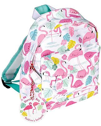 Rex London Zainetto Bimbi 28 x 21 x 10 cm, Flamingo Bay - Perfetto per l'asilo! Zainetti