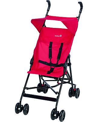 Safety 1st Passeggino Peps, Plain Red – Ultra-leggero, solo 4,7 Kg! Passeggini Leggeri