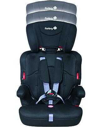Safety 1st Seggiolino Auto Ever Safe Gruppo 1/2/3, Nero - da 9 mesi a 12 anni!  Seggiolini Auto Bimbi Piccoli