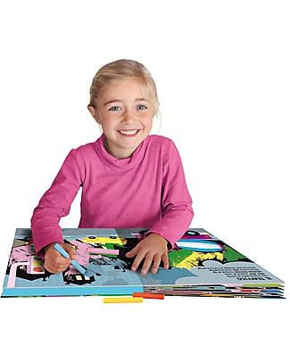 Sassi Junior Libri Lavagna, Disegno e Coloro: La mia Città - Include 8 gessetti colorati e un cancellino! Giochi Per Inventare Storie