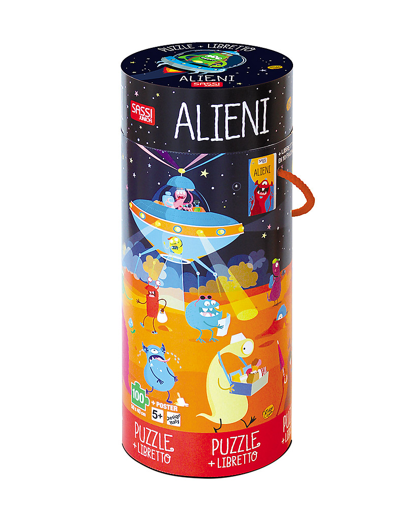 Dipingere Sassi Per Natale sassi junior puzzle gigante + libro, alieni - da 5 anni in