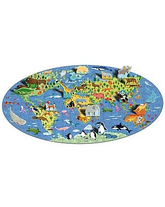 Sassi Junior Puzzle Gigante + Libro, Il Mondo Degli Animali - Da 6 anni in su! Libri