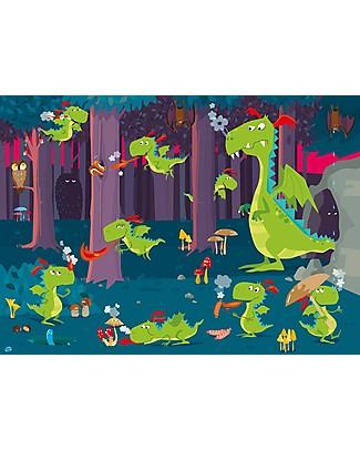 Sassi Junior Puzzle Gigante + Libro, La Foresta dei Draghi - Da 3 anni in su! Giochi Per Inventare Storie
