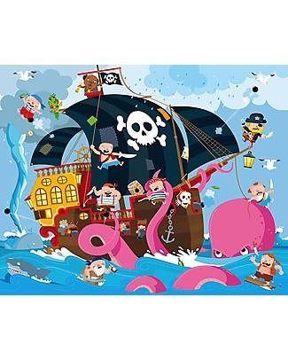 Sassi Junior Puzzle Gigante + Libro, Pirati - Da 5 anni in su! Puzzle