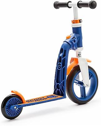 Scoot and Ride Monopattino e Bici Senza Pedali 2in1 Highwaybaby, Blu/Arancione - Da 1 anno in su Biciclette Senza Pedali