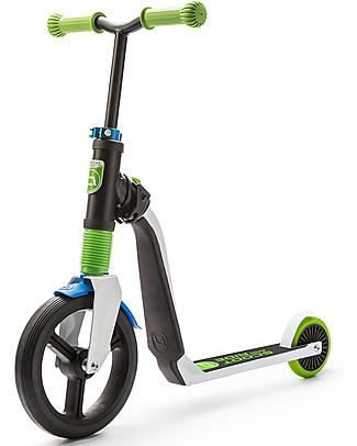 Scoot and Ride Monopattino e Bici Senza Pedali 2in1 Highwayfreak, Bianco/Blu/Verde - Da 3 anni in su Biciclette Senza Pedali