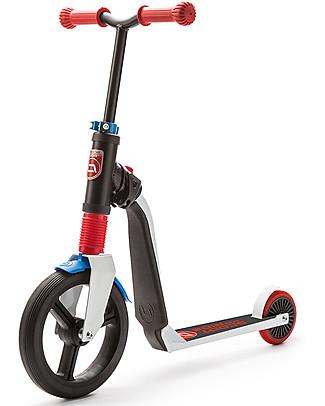 Scoot and Ride Monopattino e Bici Senza Pedali 2in1 Highwayfreak, Bianco/Rosso/Blu - Da 3 anni in su Biciclette Senza Pedali