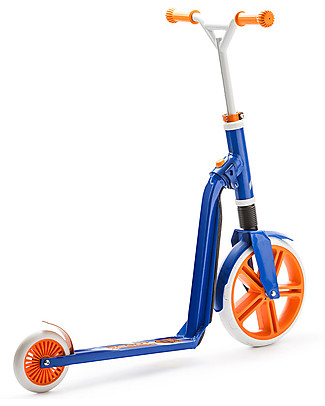 Scoot and Ride Monopattino e Bici Senza Pedali 2in1 Highwaygangster, Bianco/Blu/Arancione - Da 5 anni in su Biciclette Senza Pedali