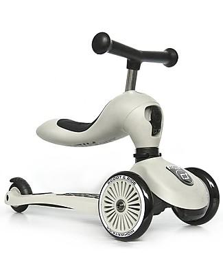 Scoot and Ride Monopattino e Triciclo 2in1 Highwaykick 1, Grigio Cenere - Da 1 a 5 anni Biciclette Senza Pedali